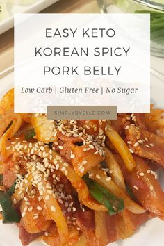 Keto Spicy Korean Pork Belly Recipe - #belly #korean #recipe #spicy - #GochujangRecipe Korean Pork Belly, Spicy Korean Pork, Pork Belly Recipes, Spicy Recipes, Diet Recipes, Gochujang Recipe, Bulgogi, Best Keto Diet, Veggies
