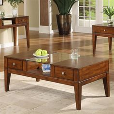 Furniture of America CM4033C East Lake Coffee Table - Home Furniture Showroom