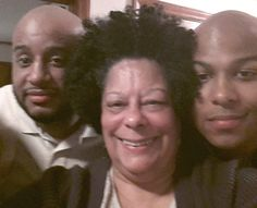 With my grandsons Robert and Anthony on their birthday February 6, 2015