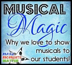 """The Hills are Alive, with the Sound of Music..."" and so is my classroom! Check out this blog post with content from ""The Bulletin Board Lady"" Tracy King and David Row at Make Moments Matter to read about which musicals we show to our students and why!"