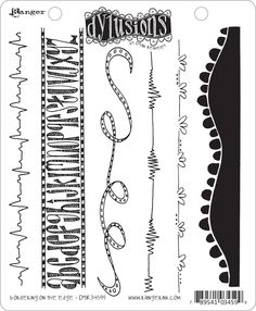 dyan reaveley art | Dyan Reaveley's Dylusions Cling Stamp Collection Bordering on The Edge ...