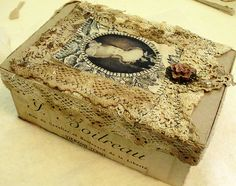 art box | Box filled with a bundle of lace. Just because I d… | Flickr