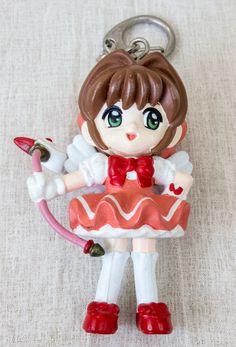 "Cardcaptor Sakura Battle Costume 2 Mascot Figure 3"" Keychain Clamp JAPAN ANIME"
