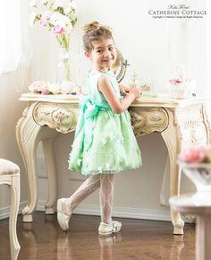 子供ドレス 女の子  刺繍と花びらシフォンドレス 結婚式 発表会 蝶々 蝶
