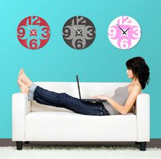 love these wall clocks...