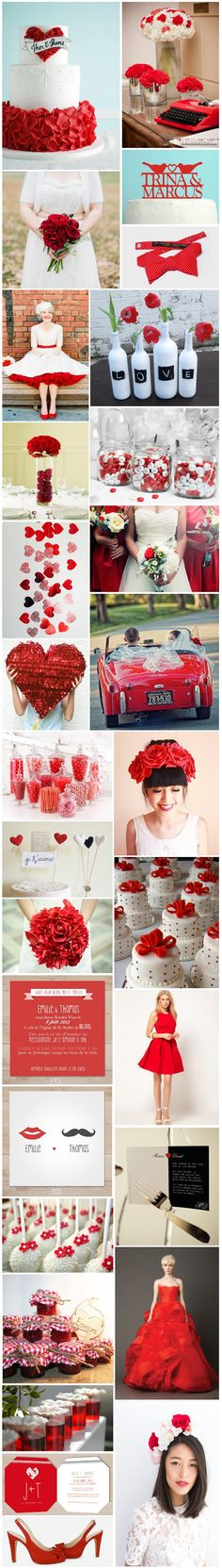 [Inspiration] Mariage rouge                                                                                                                                                      Plus