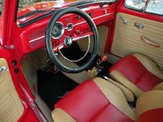 1973-VW-Bug-Beetle-Ragtop-Red-Tan-redone-to-look-like-1967