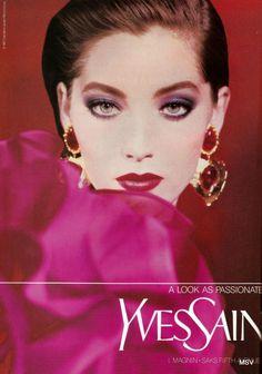 Vintage Ysl, Vintage Makeup, Vintage Beauty, 1990s Makeup, Makeup Ads, Yves Saint Laurent, Ysl Beauty, Beauty Makeup, Quick Makeup