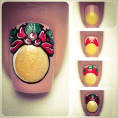 Tutorial - Bauble -Indigo Nails Lab -  Find more Inspiration at www.indigo-nails.com #Nail #Christmas #Mani