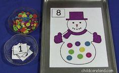 Snowman Counting Mat