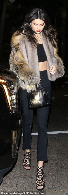 Party time:Kendall Jenner and Harry Styles were spotted partying the night away in West H...