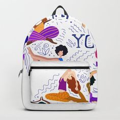 Buy yoga x Backpack by pattern-love. Worldwide shipping available at Society6.com. Just one of millions of high quality products available. Fashion Bags, Fashion Backpack, D Craft, Designer Backpacks, My Fb, One Size Fits All, Purse Wallet, Purses And Bags, Yoga