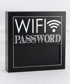 Love this Black 6'' 'WiFi Password' Chalkboard Block Sign by Adams & Co. on #zulily! #zulilyfinds