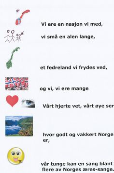 SANGER MED TEGNINGER - www.hildes-hjoerne.com Sanger, Norway, Red And White, Kindergarten, Singing, Language, Teaching, Education, Music