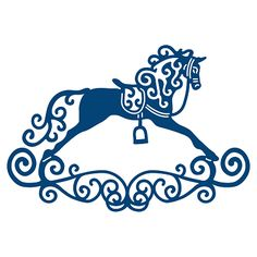 Tattered Lace - Dies - Rocking Horse - Craft ~ Your ~ Home Silhouette Cameo Projects, Silhouette Design, Kirigami, Silhouettes, Stencils, Tattered Lace Cards, Silhouette Portrait, Paper Cutting, Die Cutting