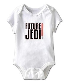 White 'Future Jedi' Bodysuit - Infant | Daily deals for moms, babies and kids