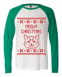 Meowy Christmas Cat Kitten Ugly Christmas by HolidayJumpers