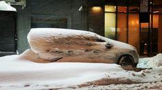 A winter blizzard at warp speed