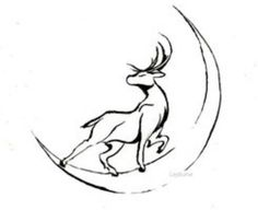 Stag & moon
