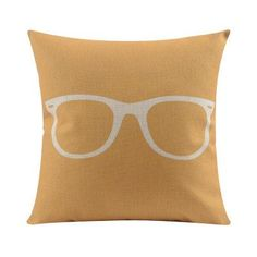 Glasses Throw Pillow Cover