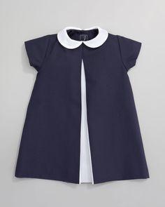 Oscar de la Renta Pique A-line Pleated Dress