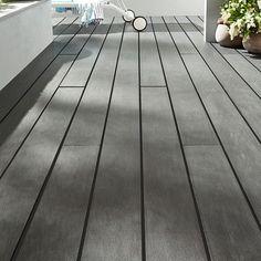 Lame de terrasse composite anthracite Blooma Nods x cm Lame Composite, Hardwood Floors, Flooring, Terrace, Tile Floor, Composition, Deco, Image, Home