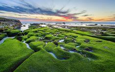Lataa kuva 4k, La Jolla, rannikolla, ranta, Tyynellämerellä, sunset, USA, Amerikassa