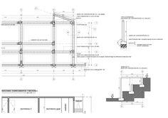Plano de estructuras para diseño vivienda unifamiliar de 2 pisos: sección (corte) de fundaciones mail: consultores@arqydis.cl