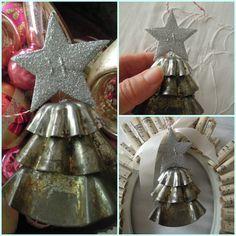 tart tin christmas tree ornament
