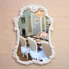 Shabby Chic Rococo Rose French Mirror