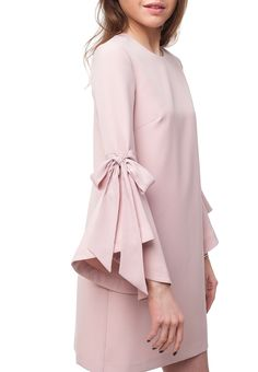 Romantic light-pink wedding guest dress by Kurta Designs Women, Kurti Neck Designs, Kurti Designs Party Wear, Dress Neck Designs, Sleeve Designs, Stylish Dress Designs, Stylish Dresses For Girls, Stylish Work Outfits, Kurti Sleeves Design