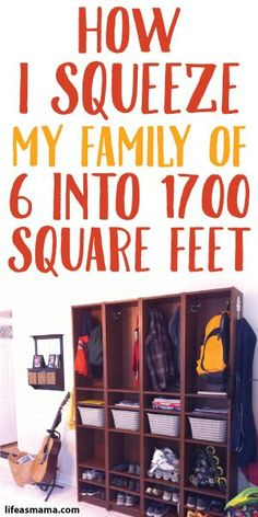 How I Squeeze My Family Of 6 Into 1700 Square Feet