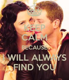 "Snow White and Prince James. ""I will always find you."""