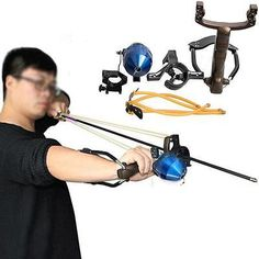 Fishing Reel Slingshot Archery Slingbow Hunting Catapult Shooting Carbon Arrows for sale online Slingshot Rubber, Diy Slingshot, Arrows For Sale, Hunting Catapult, Hunting Arrows, Archery Hunting, Arrow Rest, Carbon Arrows, Bug Out Bag
