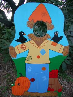 Harvest Party Themed Photo Prop  Scarecrow  in a by BlueGardenias, $150.00