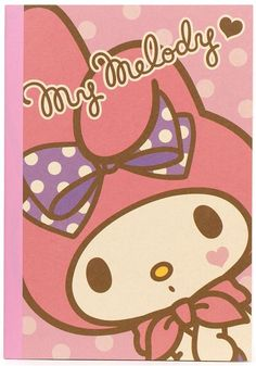 pink My Melody Notebook exercise book from Japan kawaii