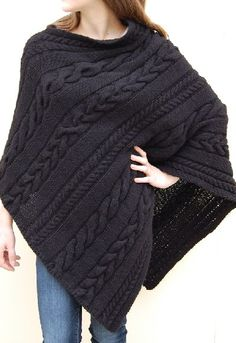 Dianne's Cable Poncho from jenniferknits.com