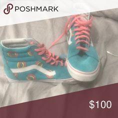 894f319d12e7d Shop Men s Vans Blue Pink size Sneakers at a discounted price at Poshmark.  Description  Unworn