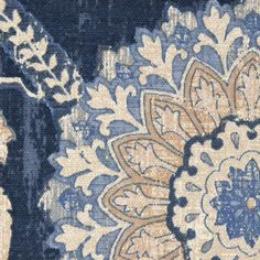 Waverly Valances, Waverly Fabric, Blue And White Fabric, Blue Fabric, Floral Shower Curtains, Shades Of Beige, Yellow Shades, Textiles, Textile Prints