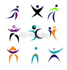 A Set Of Modern Abstract People Stock Vector - Illustration of team, graphic: 6142347 Create Icon, People Logo, Logo Design, Graphic Design, Photography Website, Logo Inspiration, Icon Set, Logos, Corporate Branding