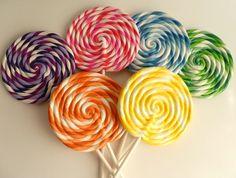 MEDIUM Big Carnival Candy Shoppe Clay Fake Swirl Lollipop Decoration Photo Prop on Etsy, $7.00