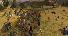 Gathering for the procession to Weathertop.  LOTRO Weatherstock.  Lord of the Rings Online