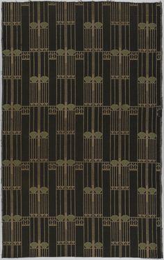 "Textile, ""Notschrei"", 1904. Josef Hoffman. Wool. Cooper-Hewitt, National Design Museum."