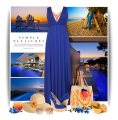 """Blue, orange 03 JULY 2015"" by melaniamar ❤ liked on Polyvore featuring Sophie Anderson, David & Young, Michael Kors and Chloé"