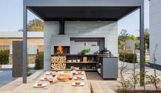 Inspiration de cuisine extérieure #cuisineExtérieure #InspirationCuisine #BBQ #vivahabitation #idmaison #relooking #InspirationReno #design #habitation #architecte #reno #aménagement #terassse #tendances #barbecue #bar