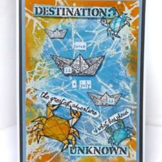 These paper boats and paper planes are just so awesome! Endless creative possibilities especially with all these words. Paper Plane, Paper Boats, Image Stamp, Adventure Quotes, Distress Ink, Clear Stamps, Zodiac Signs, Stencils, Card Making
