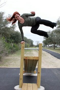 Parkour Moves | ... CBC walking trail, demonstrating one of the moves she uses in Parkour