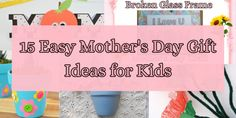 15 Easy Mother's Day Gift Ideas for Kids - MontessoriPulse Mothers Day Poems, Mothers Day Crafts, Mother Day Gifts, Fingerprint Crafts, Faith Crafts, Best Toddler Toys, Kids Craft Supplies, Mother Day Message, Cute Kids Crafts