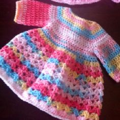 Newborn crochet dress. I gotta make one of these!