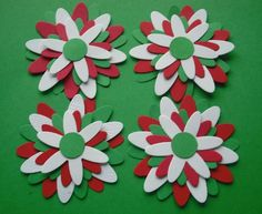 Hey, I found this really awesome Etsy listing at https://www.etsy.com/listing/63240275/handmade-die-cut-paper-flowers-red-green